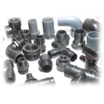 PP / Nylon schwarz/grau Fittings